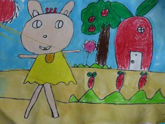 小兔和萝卜图片