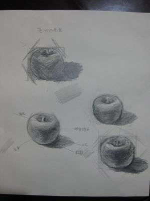 苹果/苹果素描图_素描苹果步骤图_素描苹果画法解析图