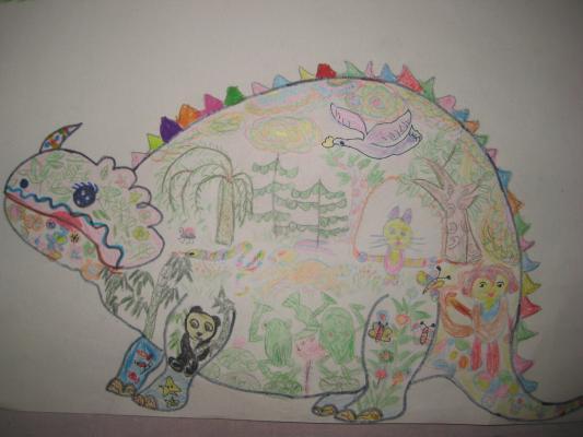 里面画了天鹅在比赛飞翔;两只青蛙在荷叶上比跳高;小猫在跳绳, 图片