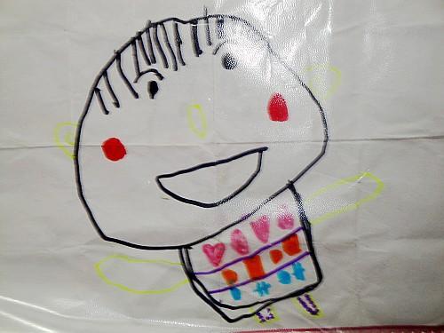 妈妈 香香/恩企给她的画取名'过节了'