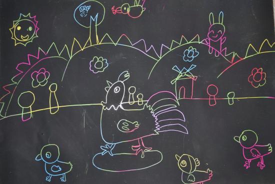 七、立体贴画系列   兔子公主和王子   愤怒的小鸟   之前画过类似的画