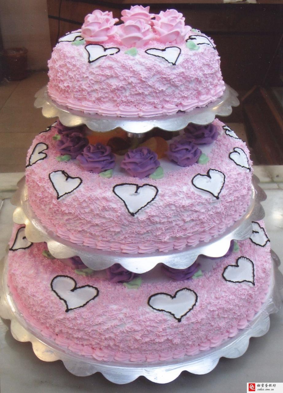 生日蛋糕 三层蛋糕 婚庆蛋糕祝福蛋图片