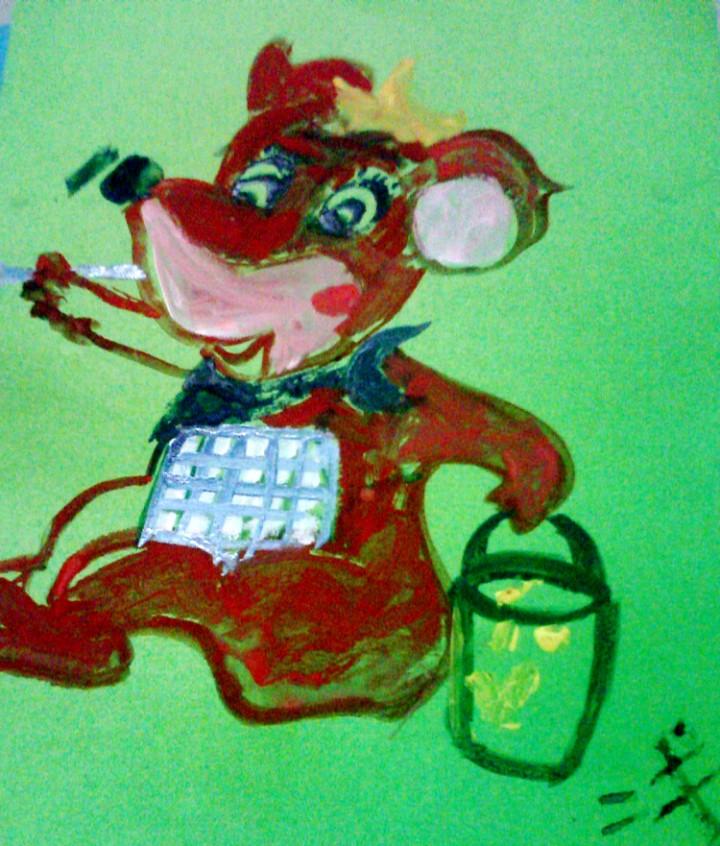 下面是浅浅在幼儿园的绘画作品.-浅浅小妞的绘画作品