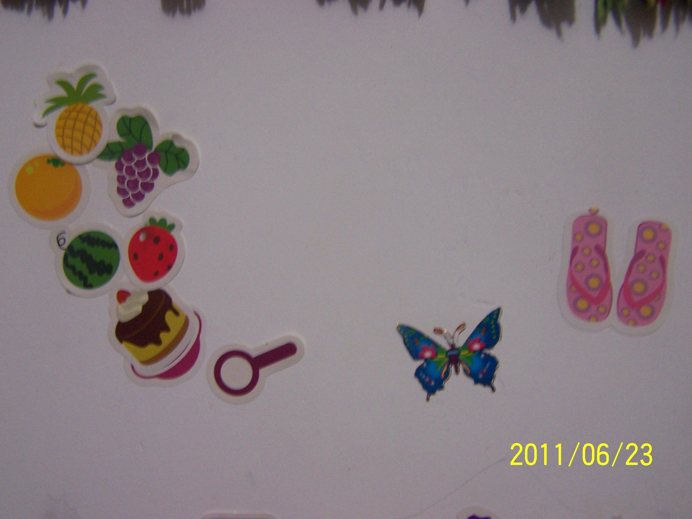 水果纸团贴画作品