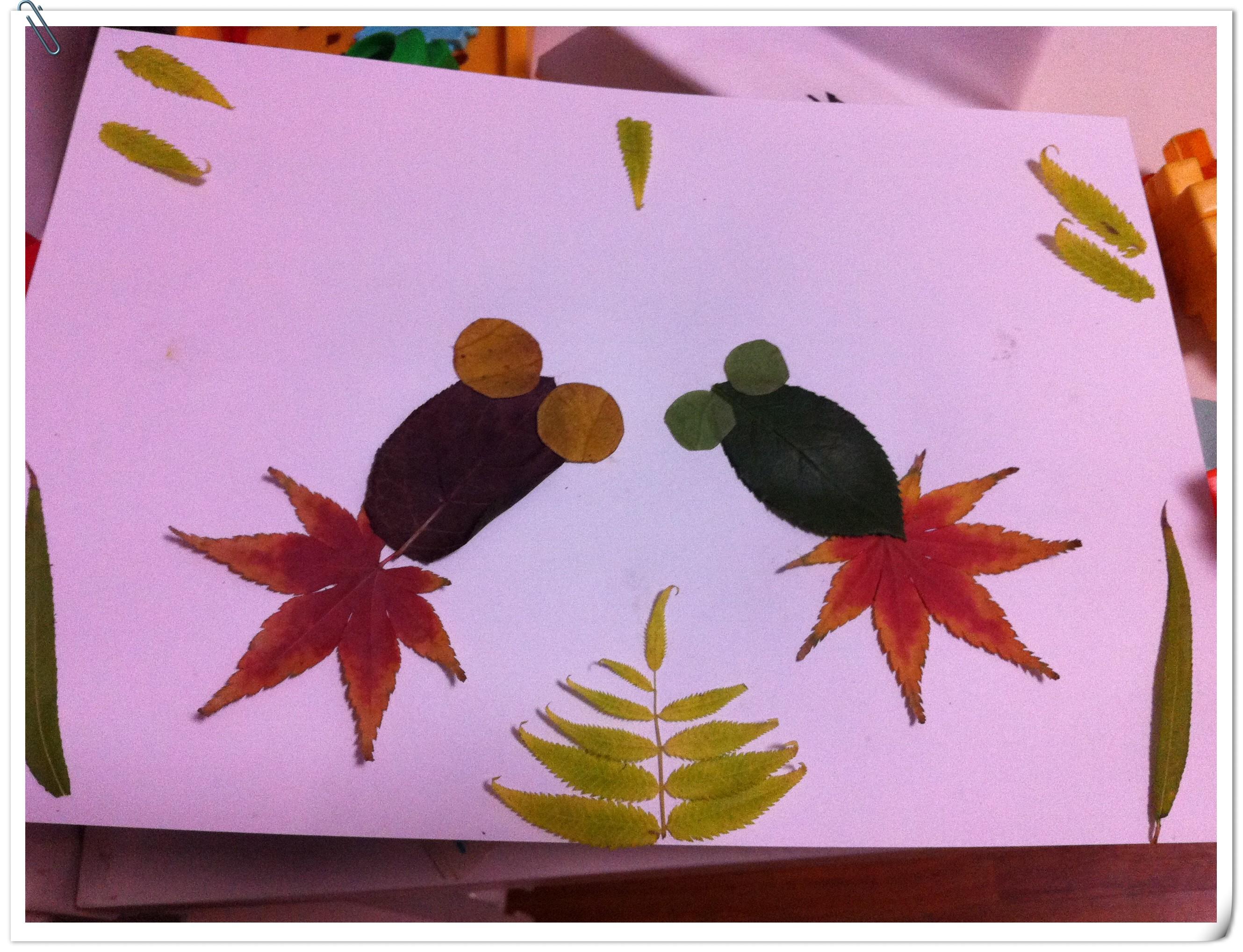 手工制作树贴画